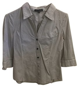 Express Button Down Shirt Brown/White