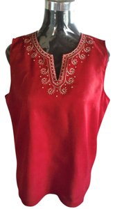 Tommy Hilfiger Sleeveless Top Deep red