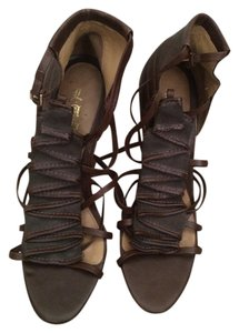 L.A.M.B. Rhett Leather Dark Brown Sandals