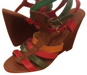 Nine West Multi earth tones Wedges