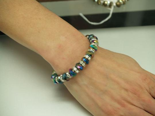 A Faceated Multi Color Glass Beads And Rhinestones
