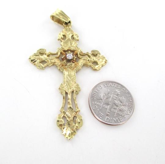 Other 14KT SOLID YELLOW GOLD PENDANT CROSS 6.7 GRAMS 1 DIAMOND .05 CARAT RELIGIOUS