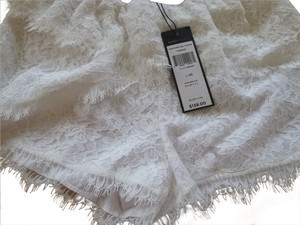 BCBGMAXAZRIA Lace Dress Shorts white