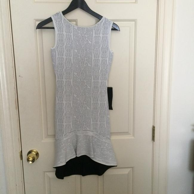BCBGMAXAZRIA Bandage High Low Lace Jacquard Dress
