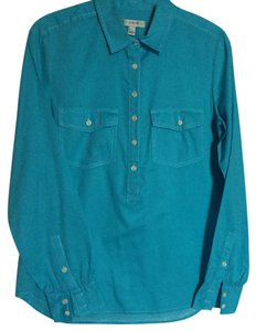 J.Crew Pop-over Top Aqua