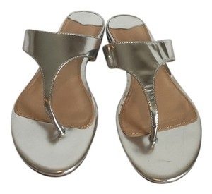 J.Crew Summer Silver Metallic Sandals