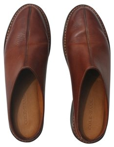 Cole Haan Chestnut Leather Brown Mules