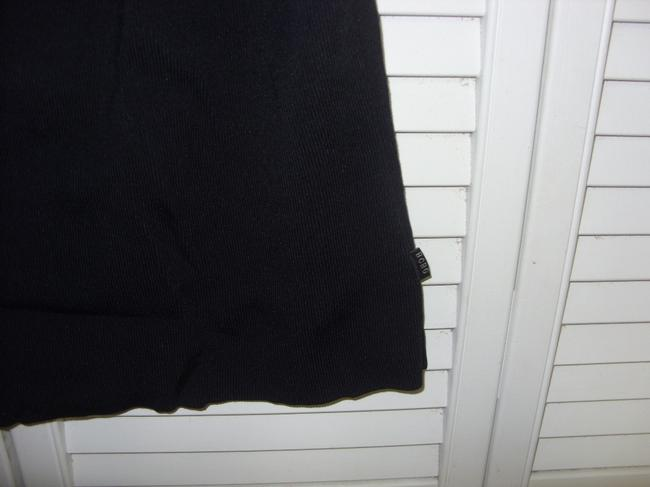 BCBGMAXAZRIA Top BLACK WITH LILAC TRIM