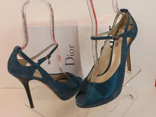 Dior Green Suede Pumps