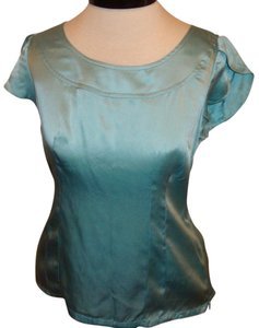 Banana Republic Silk Business Casual Top Aqua