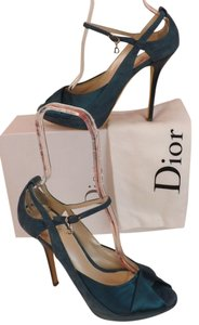 Dior Suede Green Pumps