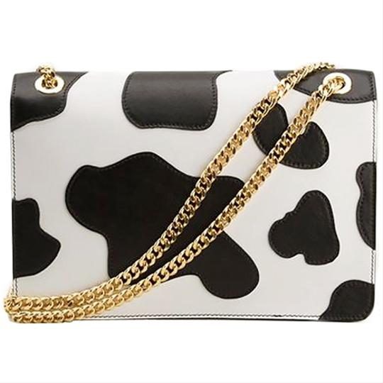 Moschino Cow Print Leather Shoulder Bag Image 2