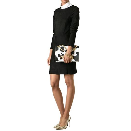 Moschino Cow Print Leather Shoulder Bag Image 3
