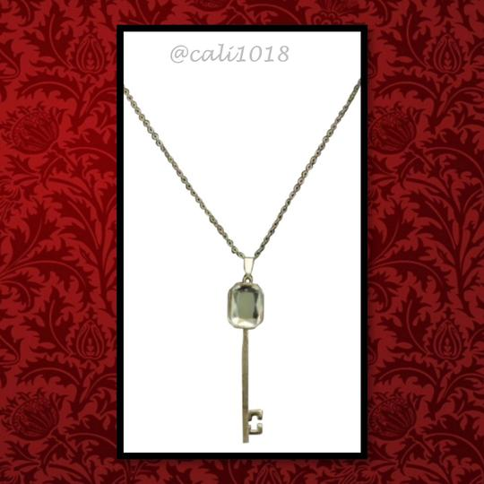 "Other New Long Key Austrian Crystal Pendant/Necklace 29"" Chain Stunning"