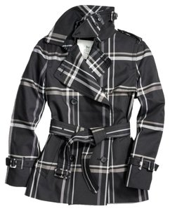 Coach Trench Tartan Plaid Fall Trench Coat