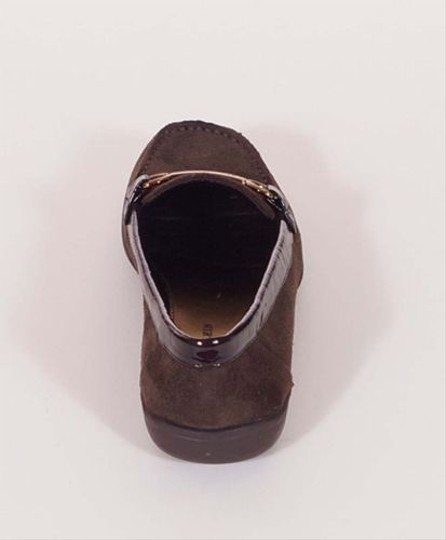 AK Anne Klein Cinna Womens Suede Leather Loafers Slip On Brown Flats