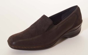 Other Jenny By Ara Reggi Womens Suede Wedges Brown Flats