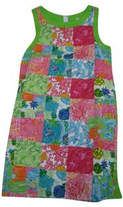 Lilly Pulitzer short dress Multicolor patchwork print on Tradesy