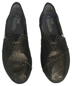 TOMS Metallic Gold Flats