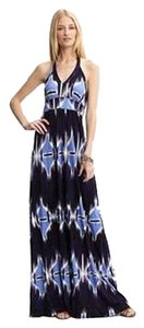 Banana Republic Tye Dye Tie Dye Maxi Maxi Halter Maxi Long Dress
