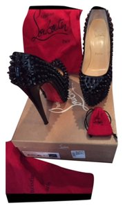 Christian Louboutin Black with black spikes Platforms