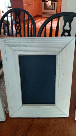 White and Off-white 6 Assorted Shabby Chic Chalkboard Frames Other