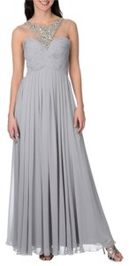 Decode 1.8 Embellished Gown Illusion Top Beaded Dress