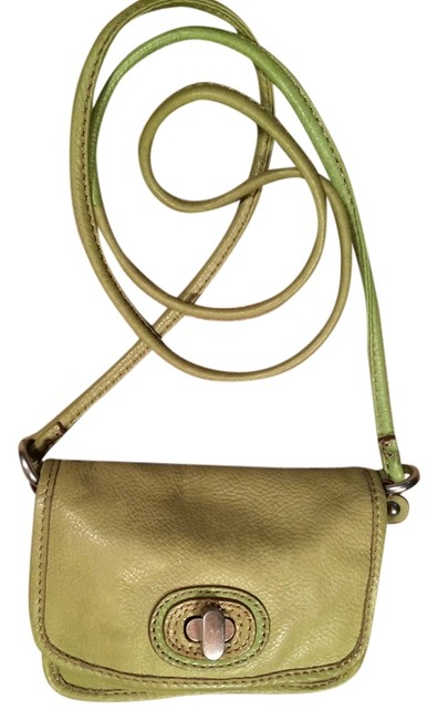 Item - Small Olive Green Leather Cross Body Bag