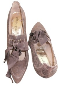 Ginger G Brown-distressed leather Pumps