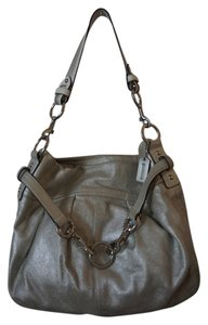 Coach Suede Pleated Metallic Hobo Bag