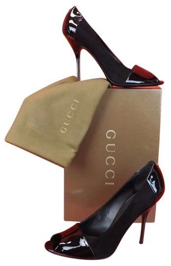 Preload https://item5.tradesy.com/images/gucci-black-patent-leather-and-suede-bacall-peep-pumps-size-us-9-regular-m-b-4707889-0-0.jpg?width=440&height=440