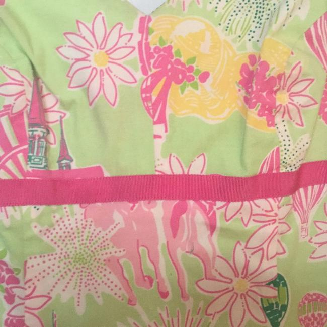 Lilly Pulitzer short dress Green and Pink Derby print on Tradesy
