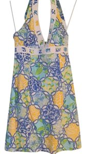 Lilly Pulitzer short dress Yellow, blue and white on Tradesy