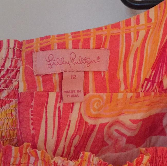 Lilly Pulitzer short dress Pink and orange bird cage print on Tradesy