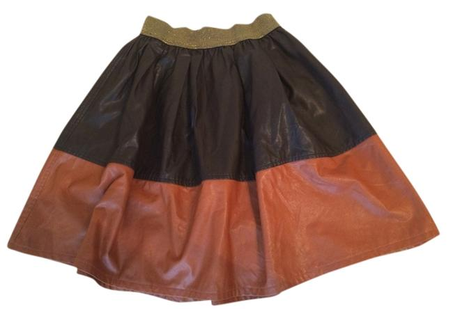 Anthropologie Skirt black and red-brown