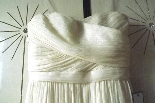 J.Crew Ivory Silk Chiffon Arabelle Destination Wedding Dress Size 2 (XS)