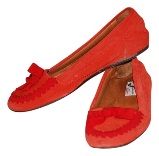 Lanvin orange Flats
