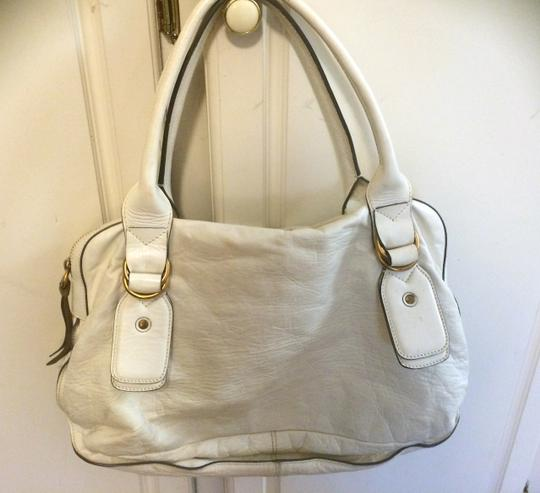 Chloé Leather Satchel in white