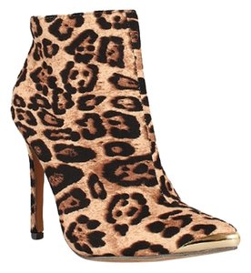 Other Ankle Faux Suede Side-zipper Leopard Boots
