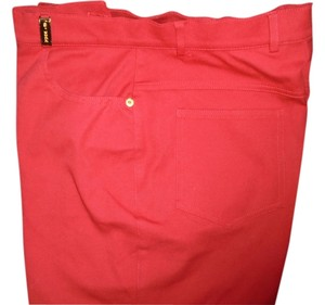 St. John Straight Pants red