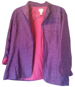 Chico's Silk Purple Blazer