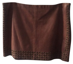 Haute Hippie Mini Skirt Camel brown