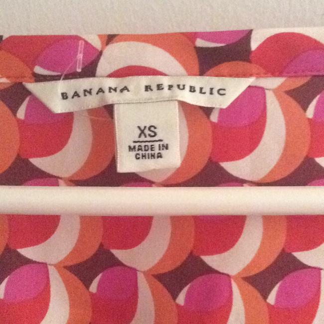 Banana Republic short dress Pink, orange multi print on Tradesy