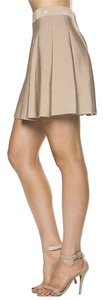 Comme USA Pleated Mini Skirt Camel