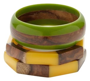 Chamak by Priya Kakkar Chamak by Priya Kakkar set of 3 Wood and Resin Bangles