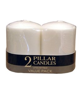 "New & Used - Up To 30 3x4"" White Pillar Candles -"