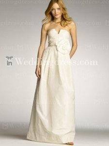 J.Crew Ivory Taffeta Bc102 Destination Wedding Dress Size 24 (Plus 2x)