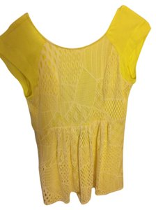 Ella Moss short dress Yellow and white crochet on Tradesy