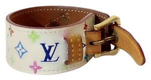 Louis Vuitton Authentic Louis Vuitton Multicolore Monogram White Cuff Bracelet
