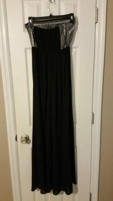 Black and grey Maxi Dress by Self Esteem